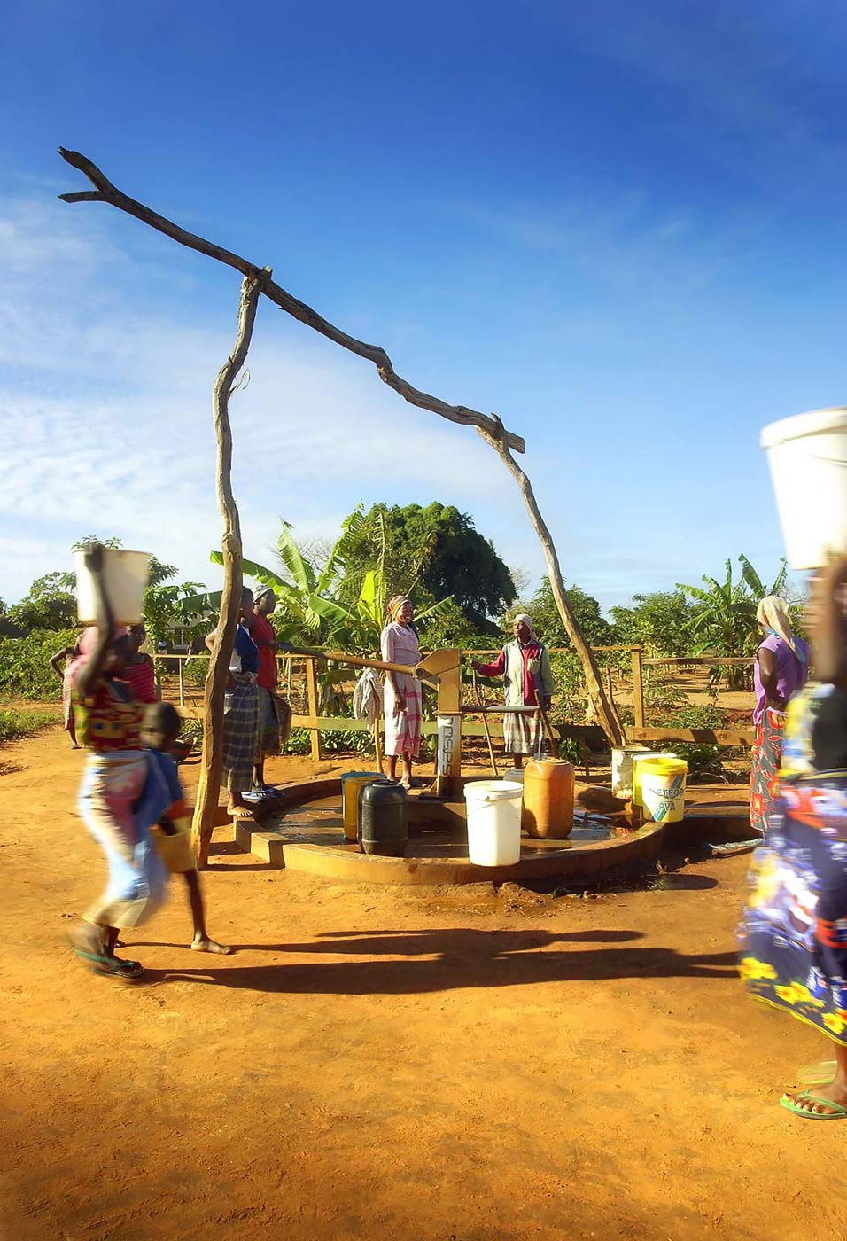 Company sponsored borehole for the supply of water to a local community - Corporate Social Investment photography portfolio