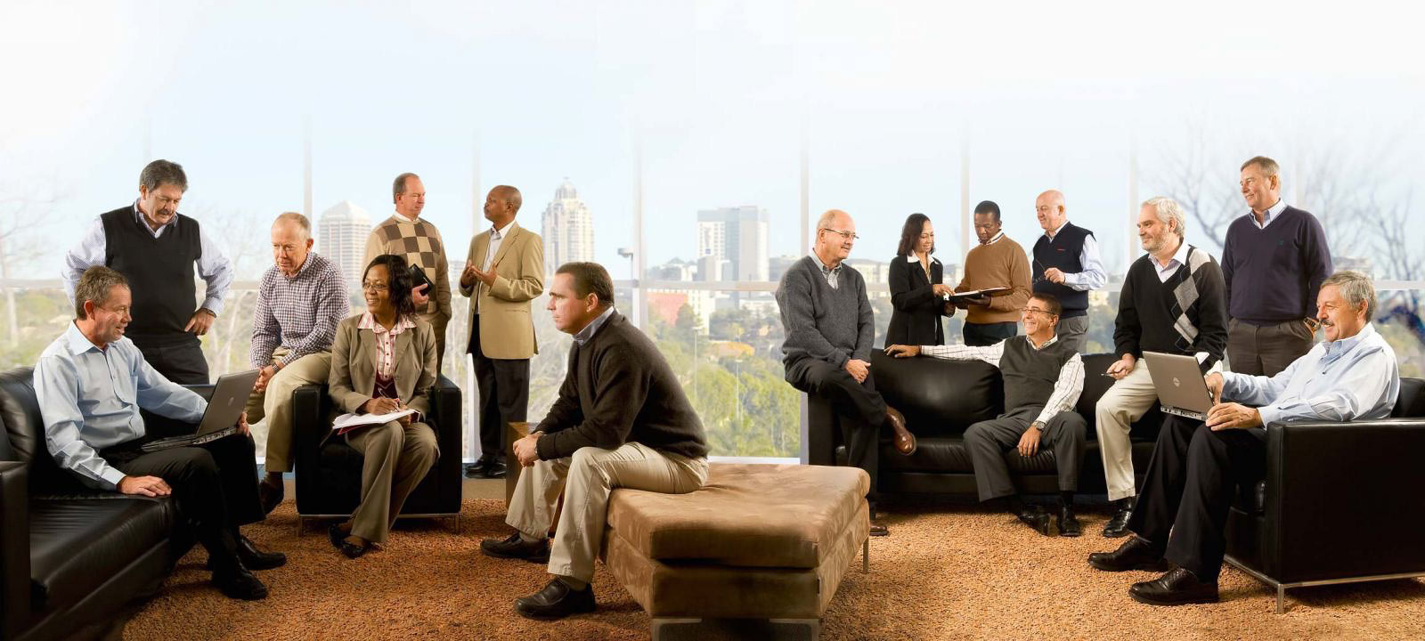 Corporate photography - Executive committee of construction company