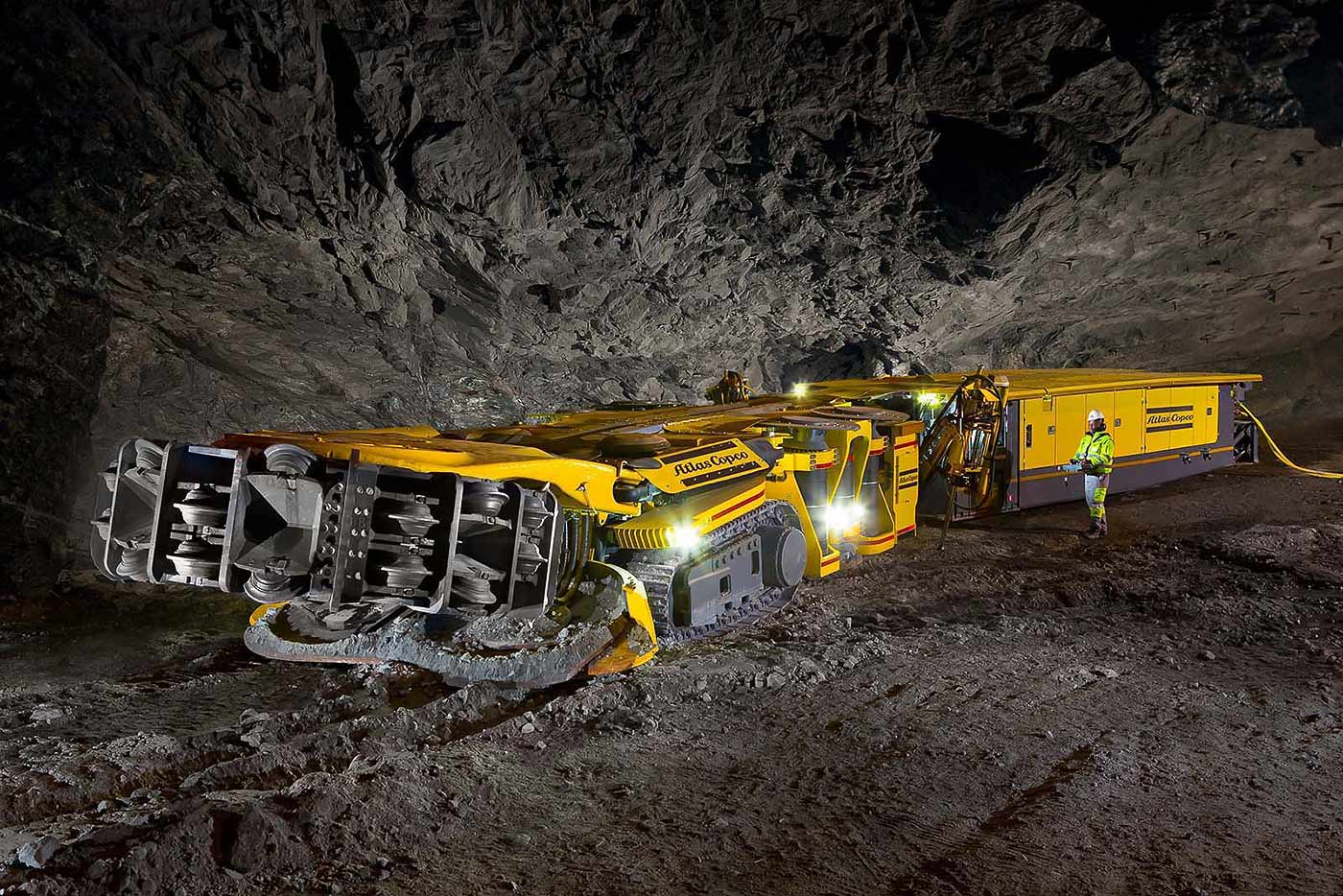 Autonomous hard rock mining machine - mining machinery photography collection