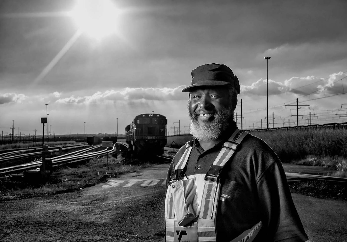 Portrait of a railways engineer by professional photographer Geoff Brown