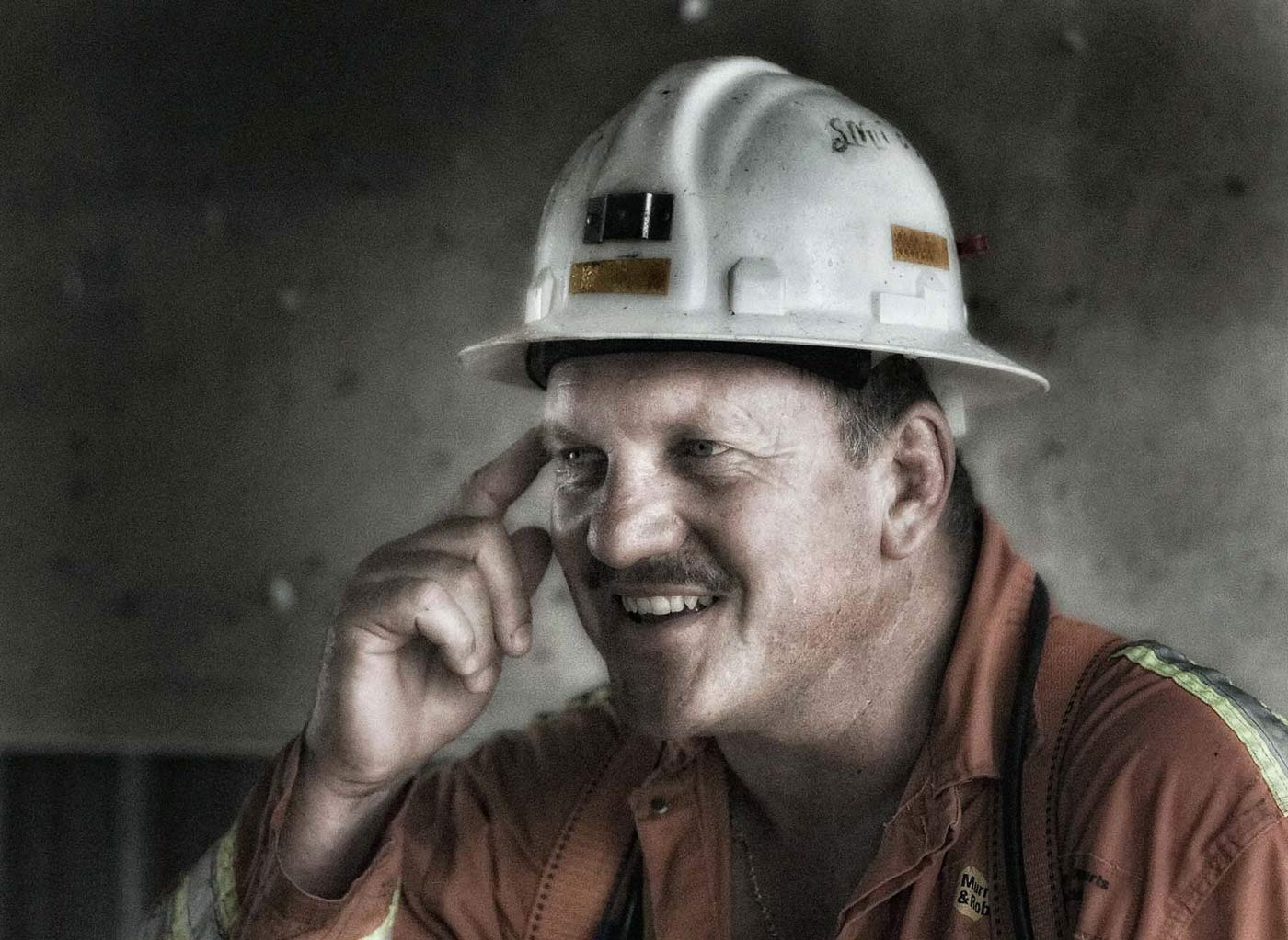 Portrait of shaft sinker - professional mining photography